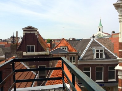 View of Haarlem from the rooftop of the Corrie ten Boom House.