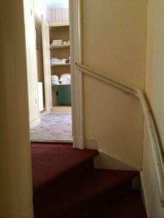 Stairway to Corrie ten Boom's bedroom.