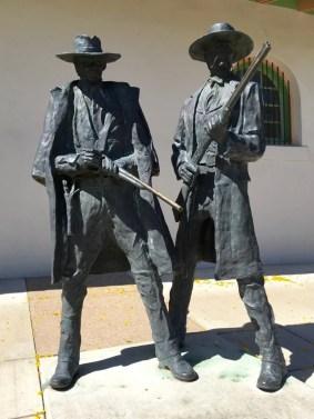 Statue Wyatt Earp Doc Holliday Tucson Arizona
