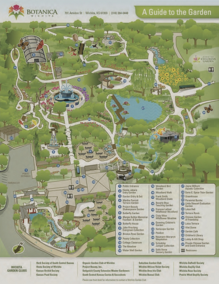 Botanica Map - What to Do in Wichita, Kansas