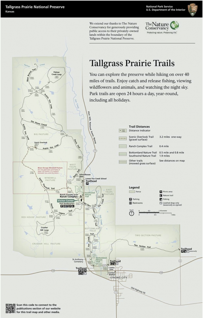 Trail Map11x17RevisedLow - Drive the Kansas Flint Hills Scenic Byway