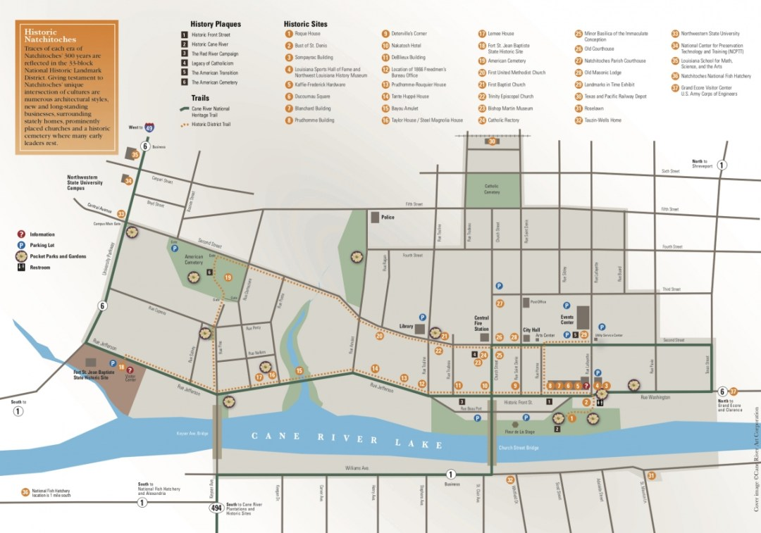 Historic Natchitoches Map - Natchitoches, Louisiana & the Cane River National Heritage Trail