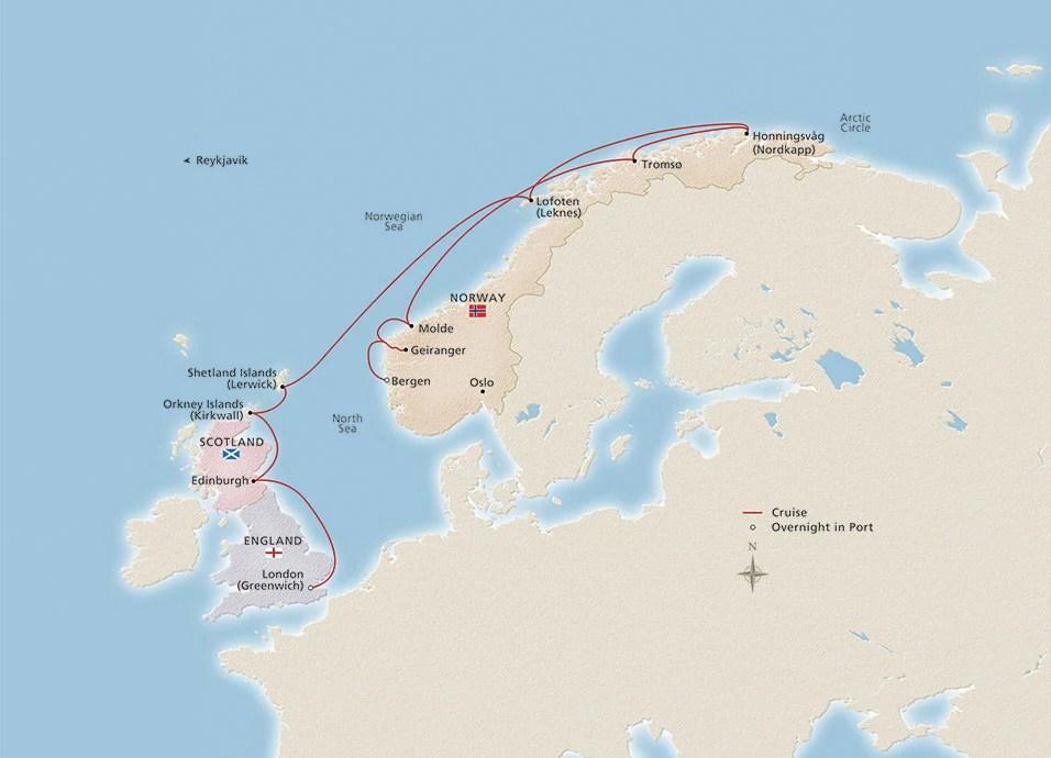 "2018 Into the Midnight Sun 956x690 tcm13 72531 - Viking Cruises to Norway & the UK: An ""Into the Midnight Sun"" Travelogue"