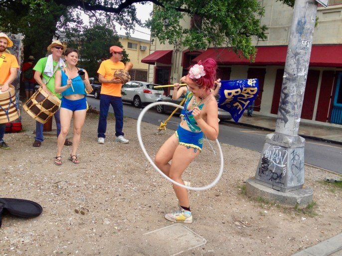 Neutral Ground Dancers on edge of French Quarter