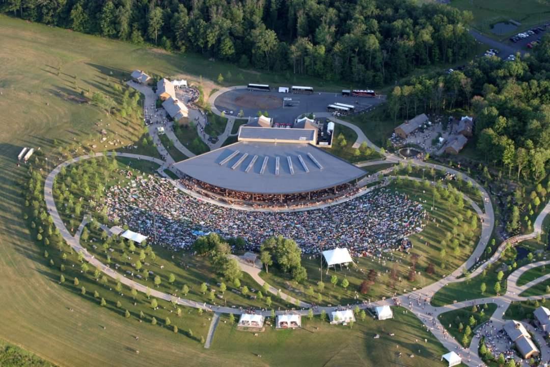 PavilionAerial - Retaking Woodstock: The Museum at Bethel Woods