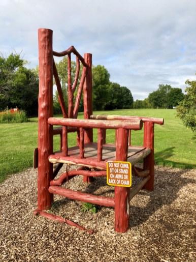 big chair at Letchworth