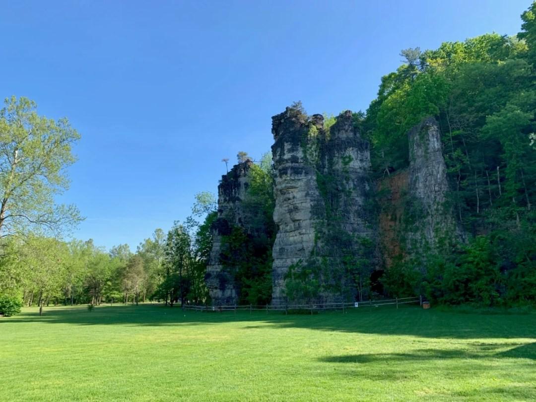 Natural Chimneys Backdrop - Fun Things to Do in Staunton Virginia