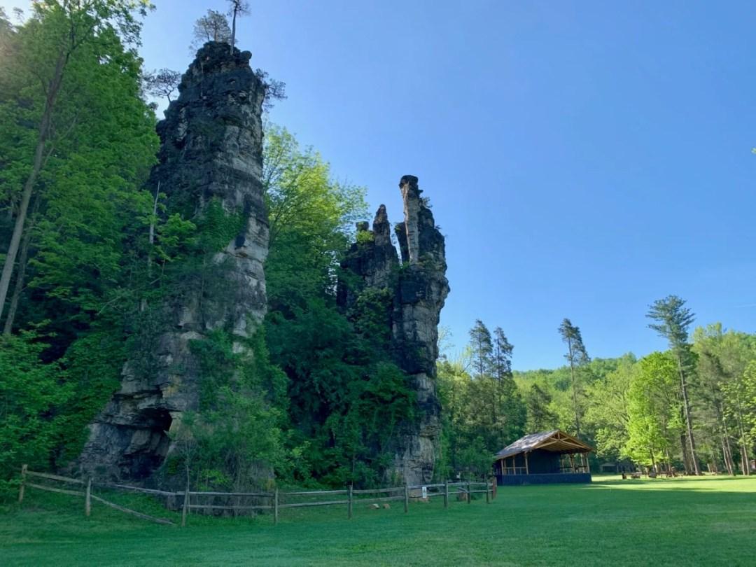 Natural Chimneys Side - Fun Things to Do in Staunton Virginia
