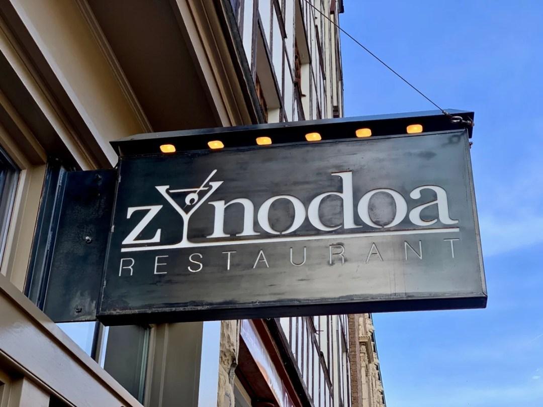 Zynodoa Restaurant Sign - Fun Things to Do in Staunton Virginia