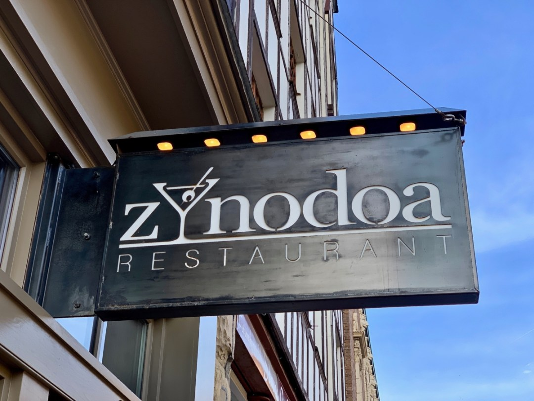 Zynodoa Restaurant Sign - Fun Things to Do in Staunton Virginia