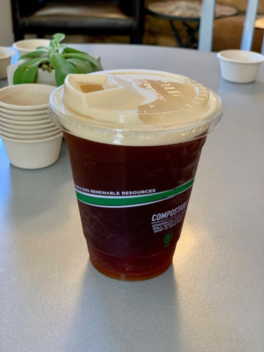 Blue Ridge Bucha compostable cup