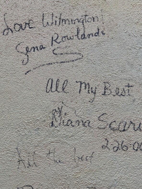 Gena Rowlands, Diana Scarwid Autograph Wall Old Wilmington City Market