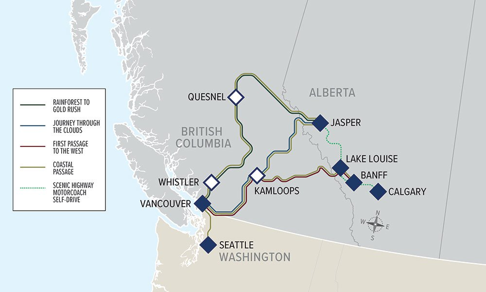 webmap all 2018 - All Aboard the Rocky Mountaineer! An Insider's Guide to Your Journey by Rail
