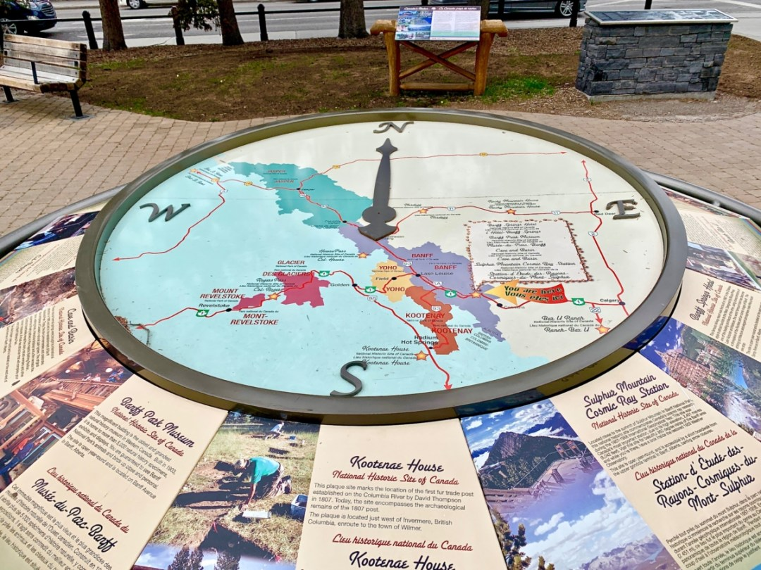 National Historic Site of Canada Map and Panels - The Best Sites & Activities for a Town of Banff Adventure