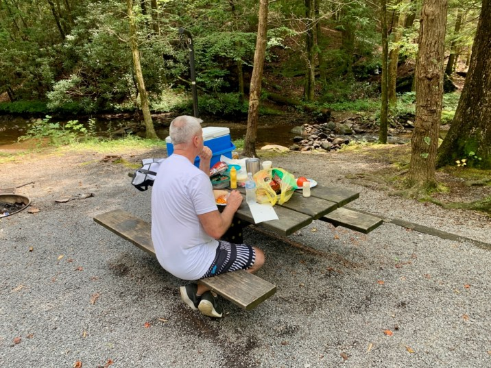 Hickey Gap Campground Picnic