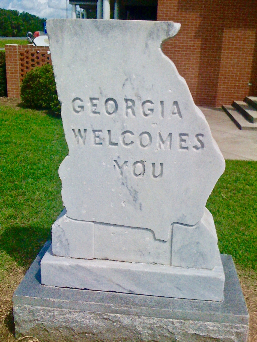 Georgia Welcomes You Sign - Design Your Own Georgia Road Trip | USA