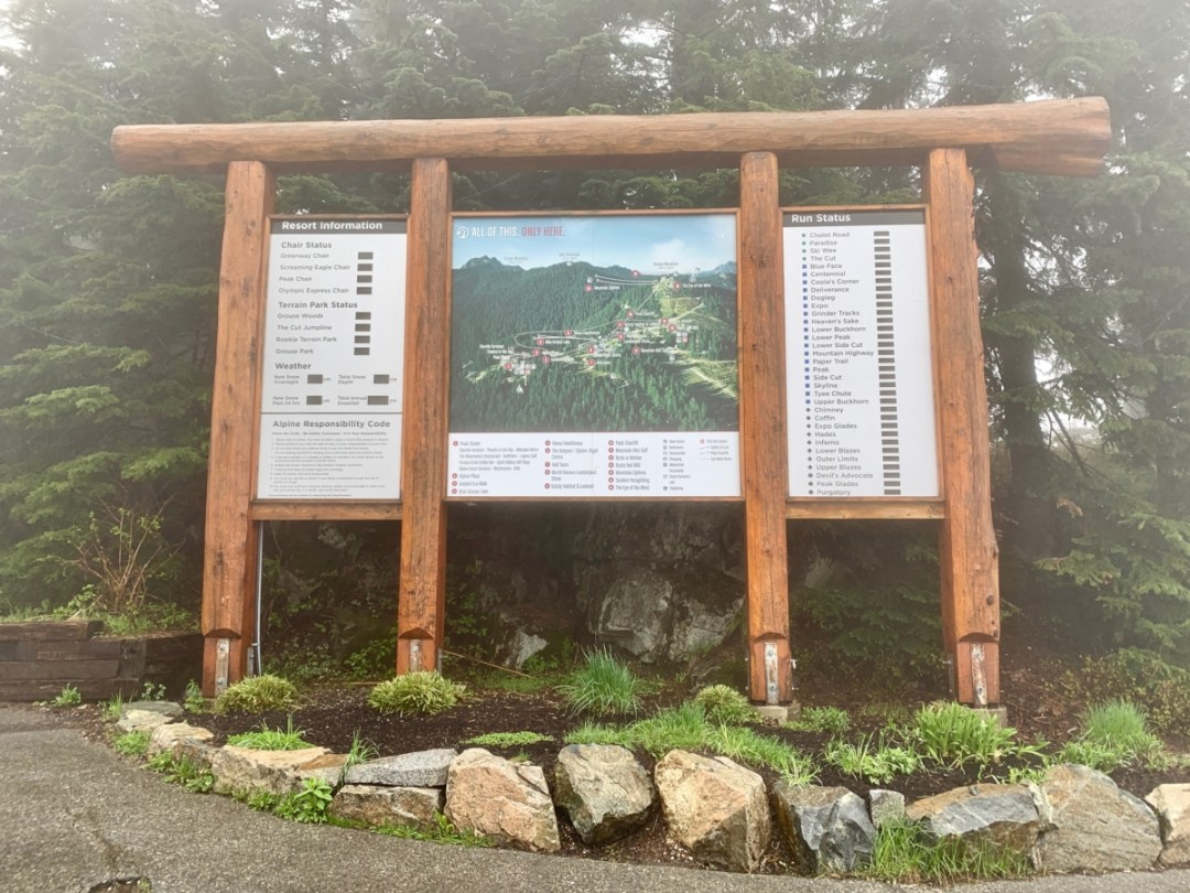 Grouse Mountain Map - Tour Capilano Suspension Bridge Park and See Vancouver in a Day