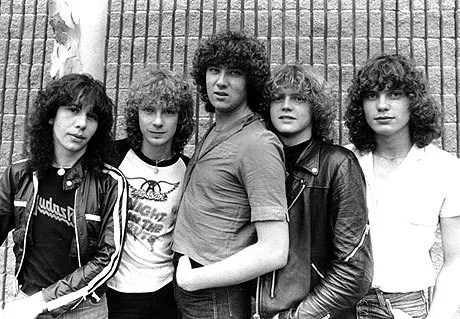 An early Def Leppard picture, Steve Clark 2nd left