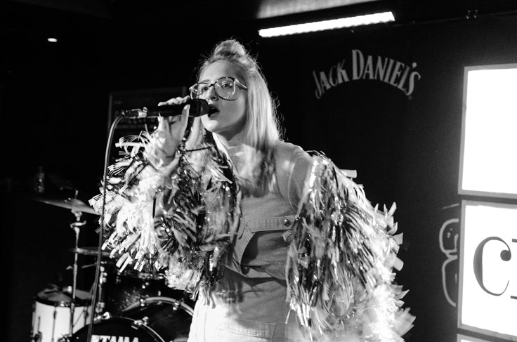 Be Charlotte on stage at Attic at The Garage in Glasgow, February 2017