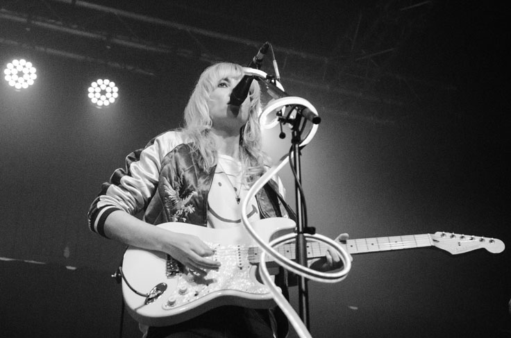 Ladyhawke on stage at The Art School Glasgow in February 2017