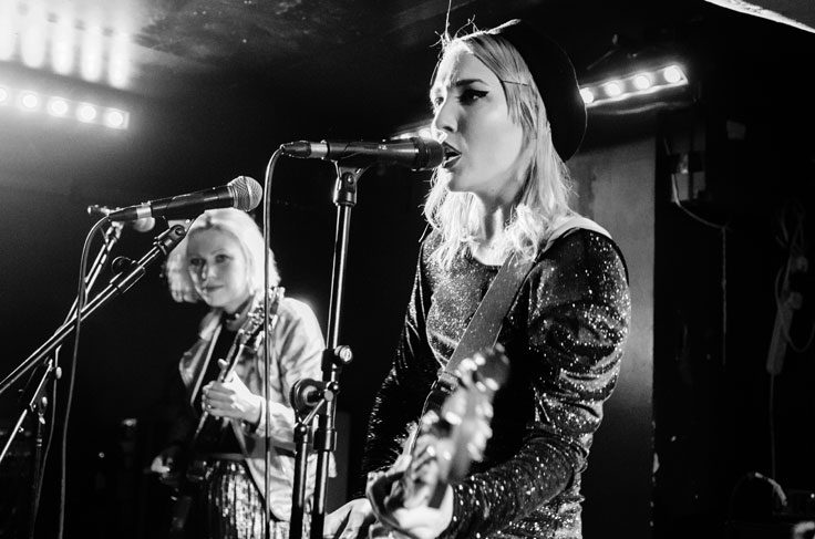 PINS on stage at Broadcast Glasgow on 14 April 2017