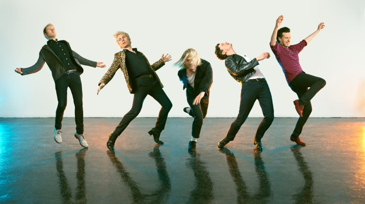 Promo image of Franz Ferdinand for Feel The Love Go single