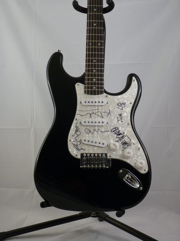 Photo of Justin Currie's guitar for Del Amitri auction