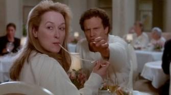Daniel and Julie at dinner
