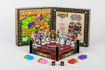 Luchador Mexican wrestling dice