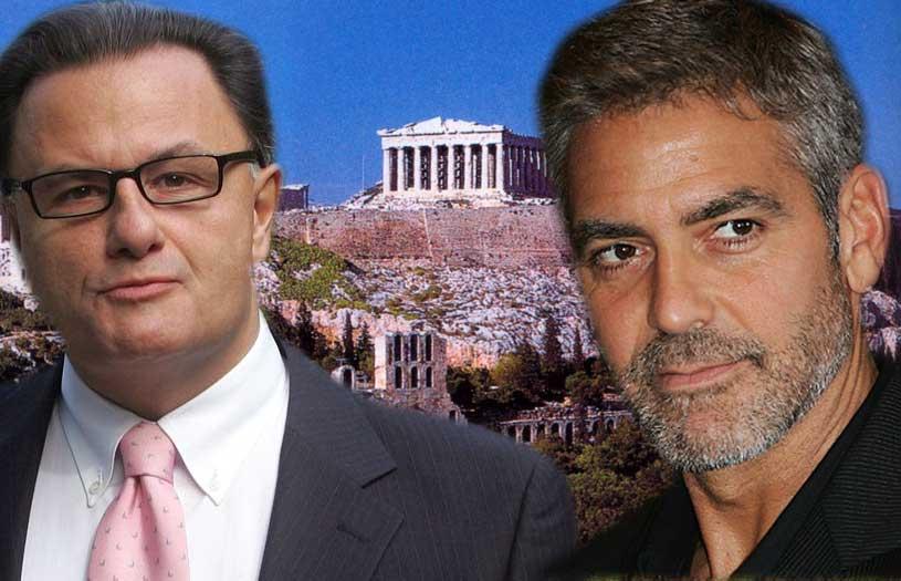 George Clooney και Πάνος Παναγιωτόπουλος