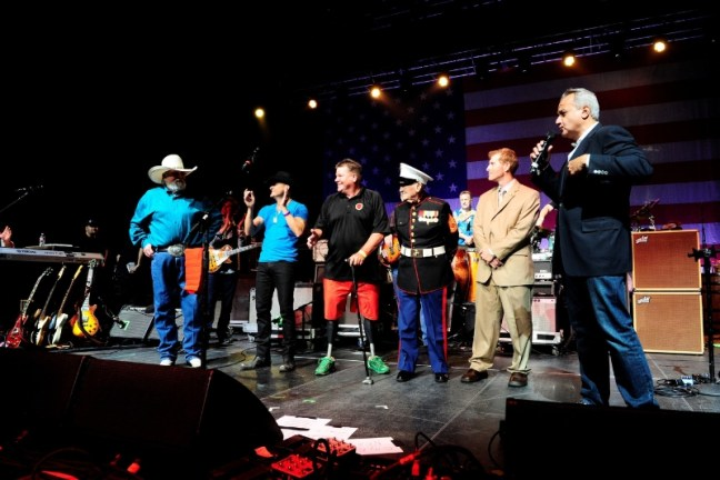 Anthony Imperato, President of Henry Repeating Arms presented Henry Golden Boy Military Service Tribute Rifles to War Heroes at the Charlie Daniels Volunteer Jam in Nashville. (PRNewsFoto/Henry Repeating Arms)