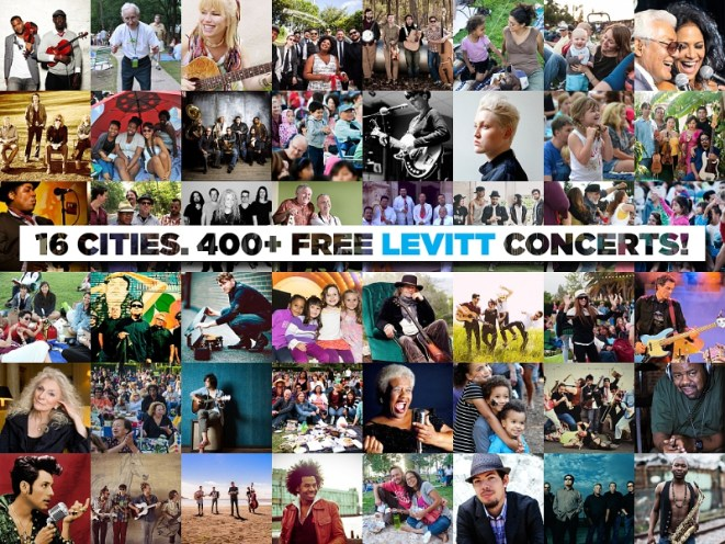 Experience the joy of free, live music with 400+ free Levitt concerts in 16 towns and cities across America, featuring GRAMMY-winning artists to acclaimed, emerging talent in a wide array of music genres. (PRNewsFoto/Levitt Pavilions)