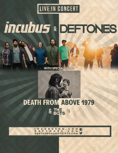 Incubus and Deftones Announces Summer Co-Headlining Tour (PRNewsFoto/Live Nation Entertainment)