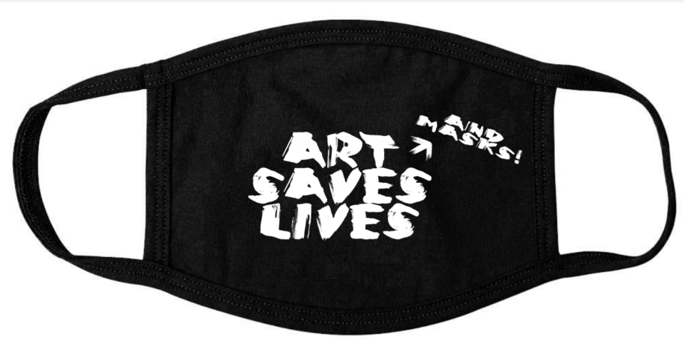 Art (and Masks) Saves Lives Face Mask