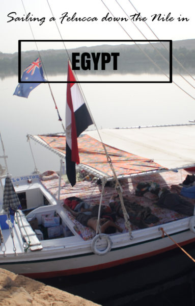 Sailing a Felucca on the Nile,Egypt. I spent a couple of night sailing on a felucca on the Nile a few years ago and it was an incredibly relaxing way to see a bit of the Egyptian countryside.