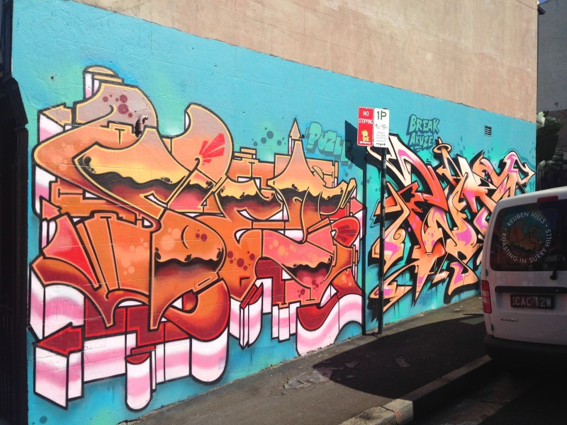 Surry Hills Street Grafitti Art