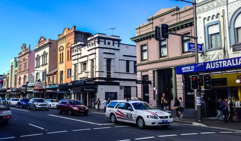 Newtown buildings along King street Sydney