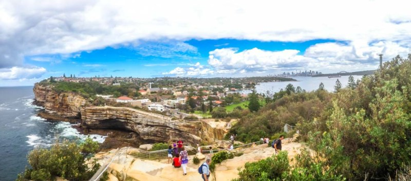 Watsons Bay Sydney with the Gap in the foreground and the city in the distance