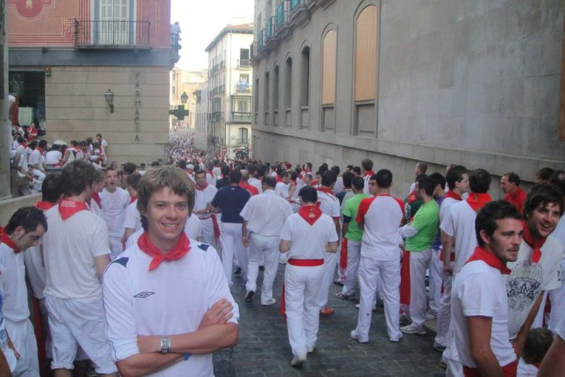 getting ready to run with the bulls at san fermin