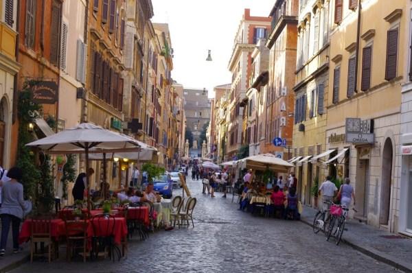 The backstreets of Rome - Simone's favourite city