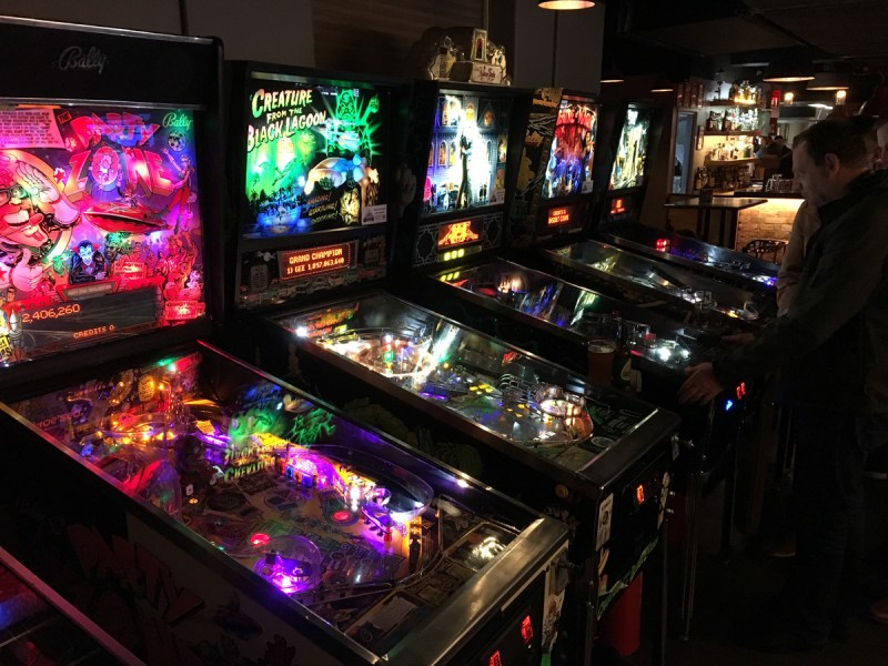 Pinball machines at Bartronica