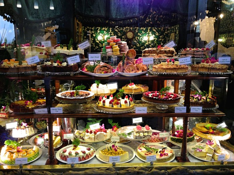 The cake selection at Hopetoun Tea Room