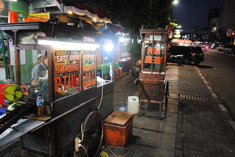 Street Food carts around Jakarta