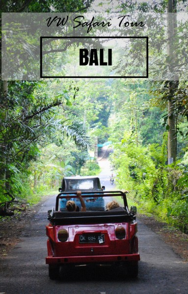 VW Safari Bali: If you're looking for an adventure in Bali away from the beach, take a road trip in a vintage VW Convertible.