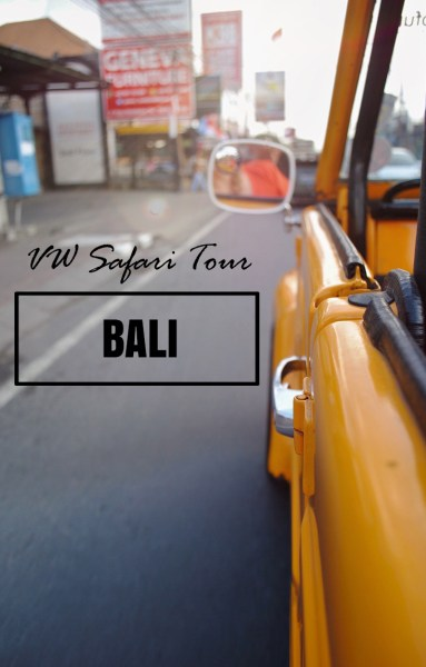 A VW Safari in Bali is an incredible way to spend a morning. They'll pick you up and drop you off and take you to a number of great spots around the island in a vintage VW Convertible.