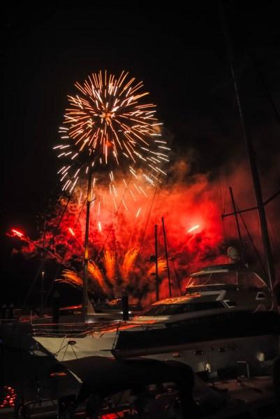 Fireworks at Hamilton Island Marina