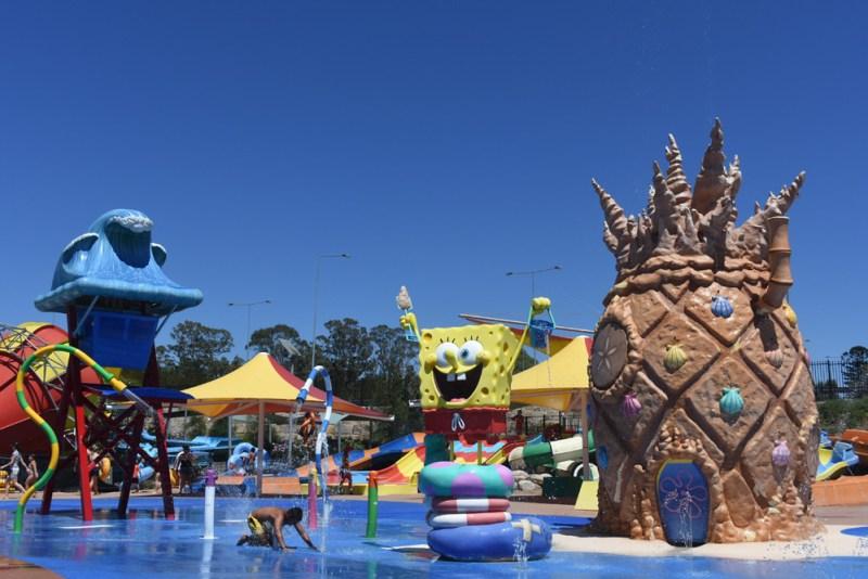 Spongebob and Pals at Nickelodeon Beach Wet n Wild Sydney
