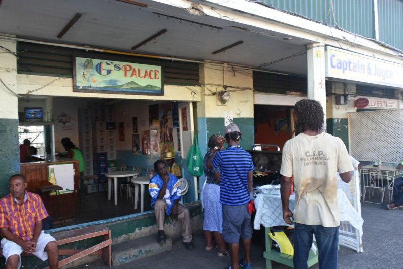 A couple of the local bars we didn't linger at in Castries, St Lucia