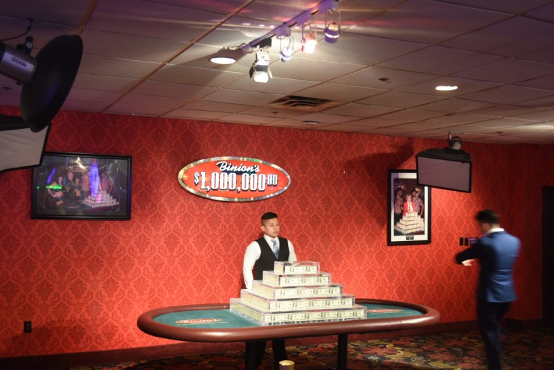 A million dollars in cash at Binions Casino Downtown Las Vegas