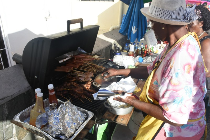 Lunch from this lady's bbq at the New Year's festival in Castries, St Lucia